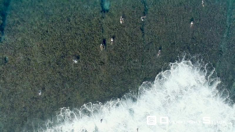 Surfing on Gili Island near Bali Indonesia