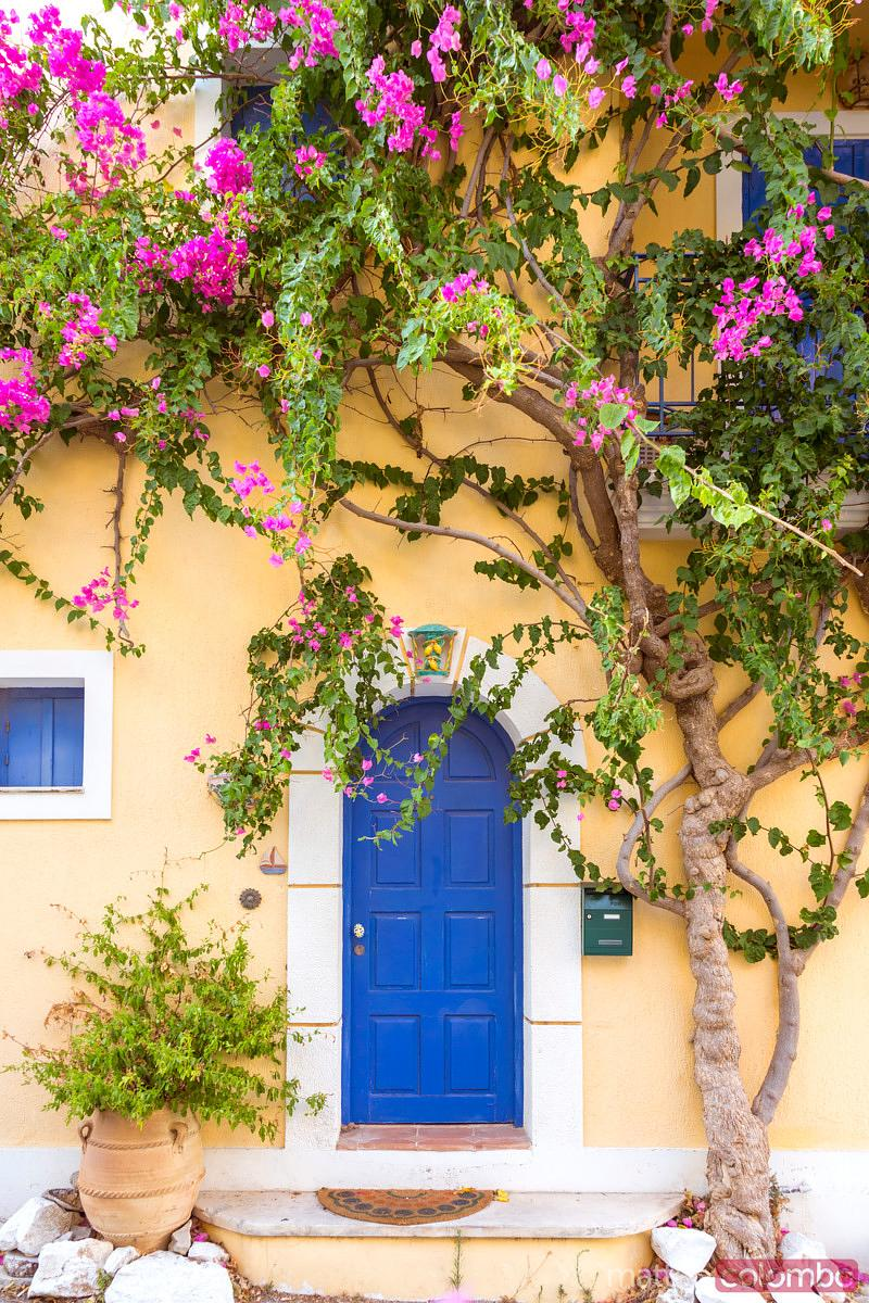 Typical house in a greek village. Kefalonia, Greek Islands, Greece