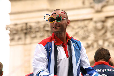 GBR Athletes Wearing Olympic RIngs Sun Glasses