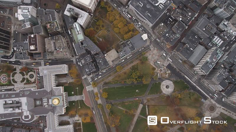Leisurely flight over Boston cityscape.