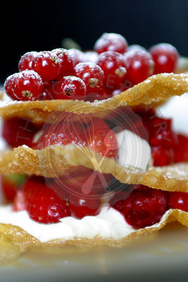 Dessert food of Mixed Berries Napoleon