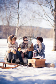 Winter Picnic by Haug