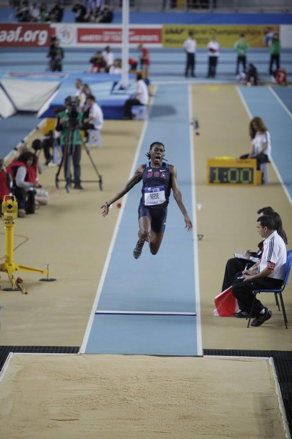 IAAF World Indoor Championships 2012 Istanbul Photos Angelos Zymaras Women's Long Jump. Brittney REESE (USA) wins the Gold me...