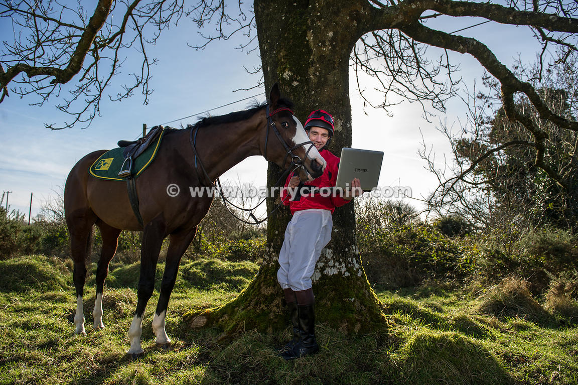 1st February, 2013.Banker and former jockey Brian Bunyan photographed at his New Rathbride Stables in The Curragh on Ages of ...