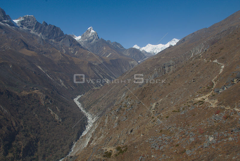 NEPAL Gokyo Valley -- The Gokyo valley of the Everest region (Khumbu Himal) of Nepal. This valley is increasingly part of the...