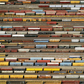 Union Pacific Train Car Marshalling Yard, Roseville, California