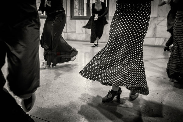 Dancers at a the Manuel Betanzos Academie de Flamenco