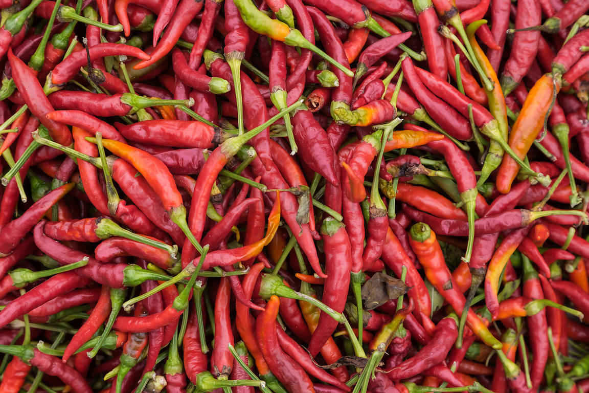 Chillis for Sale at a Local Market