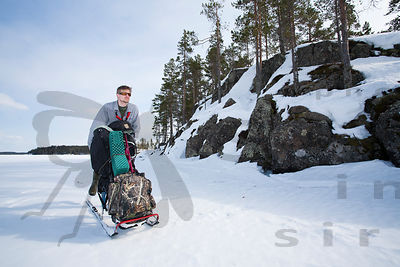 With Kick Sled in Etelä-Konnevesi
