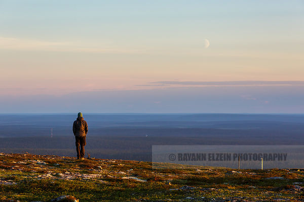Enjoying the vastness of Lapland