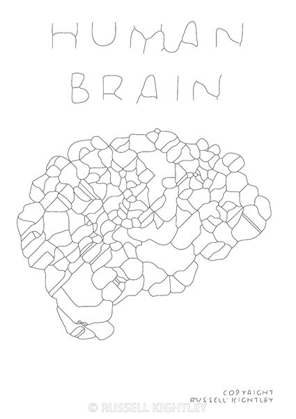 Colouring In: Brain Abstract.