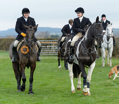 Georgie Mason at the meet at Highfield Farm