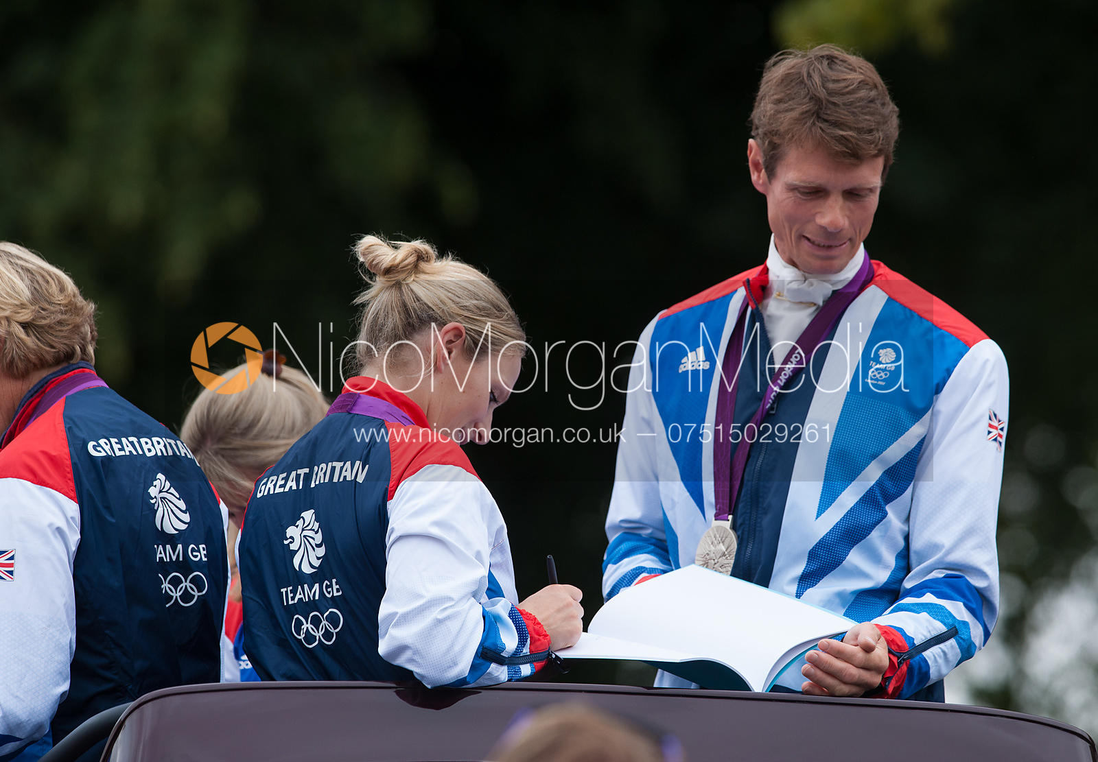 Zara Phillips, Mary King, William Fox-Pitt and Nicola Wilson -  Olympic equestrian silver medallists at Land Rover Burghley H...