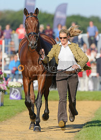 Sarah Cohen and TREASON - The final vets inspection (trot up),  Land Rover Burghley Horse Trials, 8th September 2013.