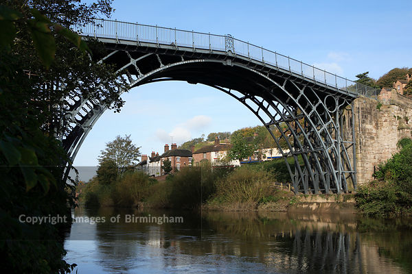 The Ironbridge Bridge in Ironbridge, Telford, Shropshire, England, UK. Spanning the River Severn.