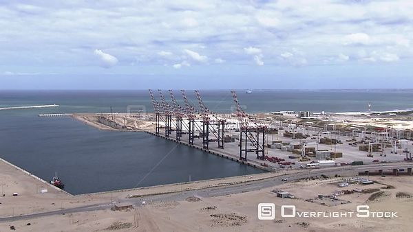 Gantry cranes at the Port of Ngqura, Port Elizabeth South Africa