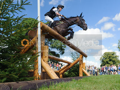 Wills Goodhew and MORE LUCK - cross country phase,  Land Rover Burghley Horse Trials, 7th September 2013.