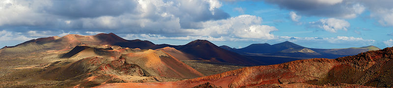 Panoramic canvas wall art | Timanfaya, Lanzarote
