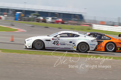 TF Sport's Aston Martin Vantage GT4 in action at the Silverstone 500 - the third round of the British GT Championship 2014 - ...