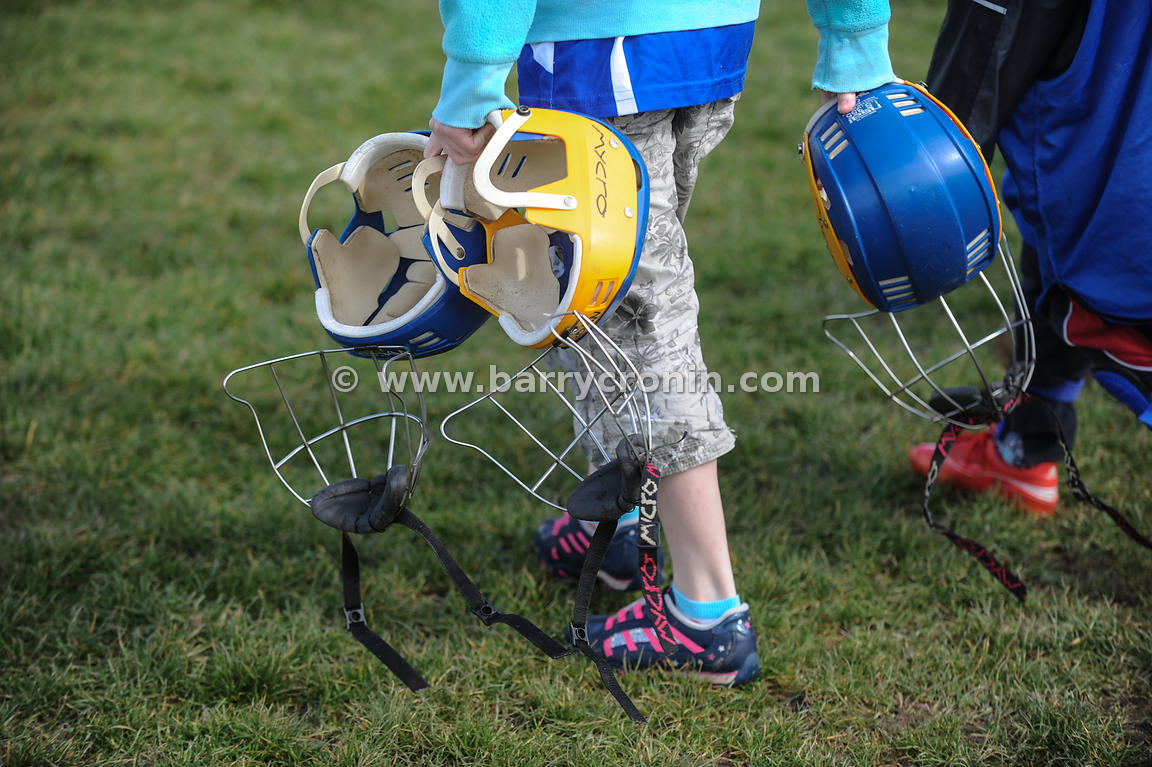 21st April, 2012. Castleknock GFC football nursery, Carpenterstown, Dublin. Pictured are some of the younger members with som...