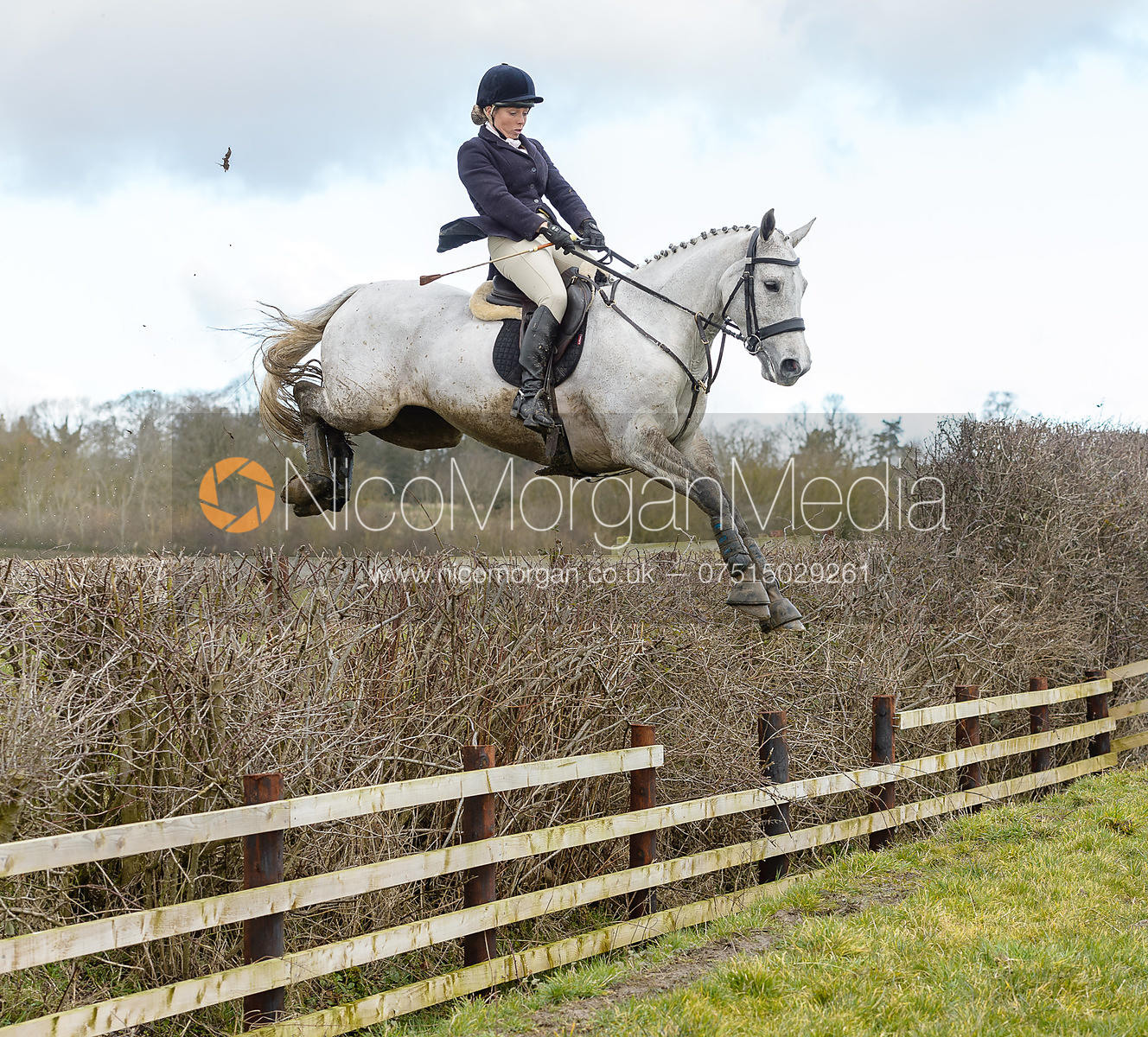 Emma Hyslop-Webb jumping a fence at Burrough House
