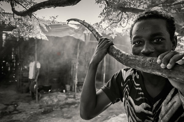 Portrait of a Young Man at the Fish Market in Awassa