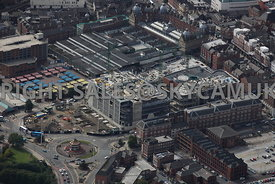 Leeds aerial photograph of The Victoria Gate and George Street developments and Kirkgate Market