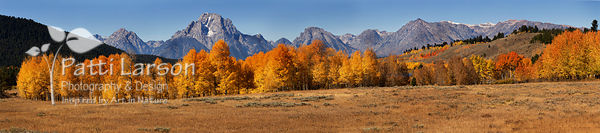 Panoramic View of the Tetons in Autumn