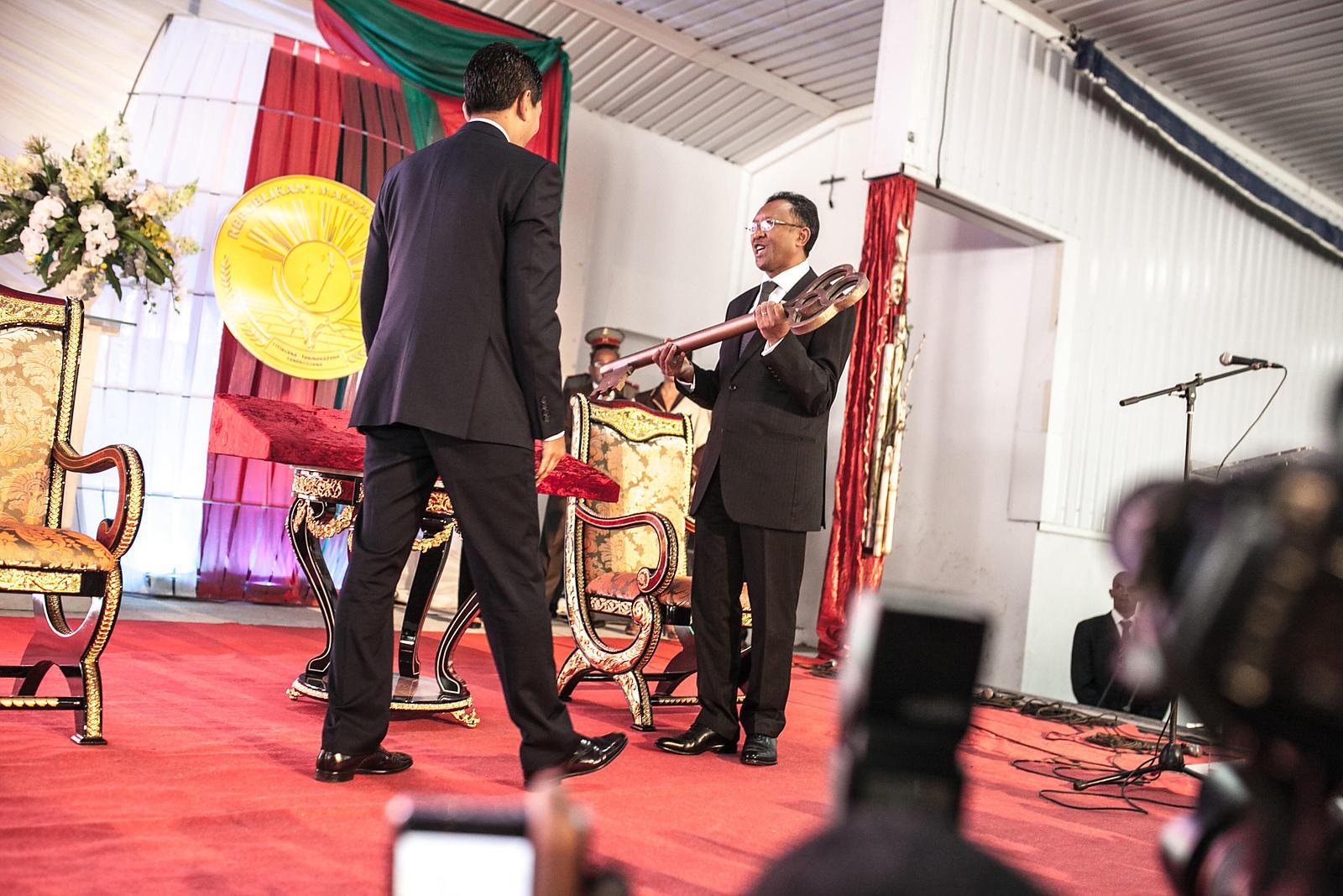 RIJASOLO | Madagascar's newly elected President Hery
