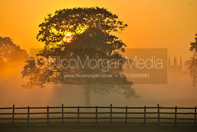 Dawn over the Osberton Estate - September 2011