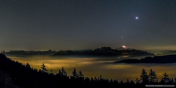 Planetary Collar and Crescent Moon (1) - Annecy Semnoz