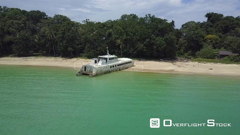 Drone Video of Ship Wreck on Isla Contadora Resort Island Panama