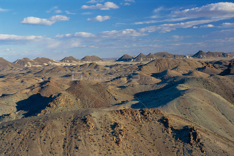 Aerial view of badlands, Petrified Forest NM, Patagonia, Argentina