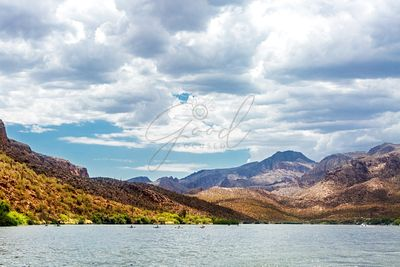 Scenic Canyon Lake in Arizona With Kayakers