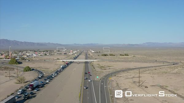 Traffic Jam on I15 Baker California