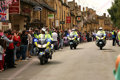 Police Motorcyclists at Olympic Torch Relay
