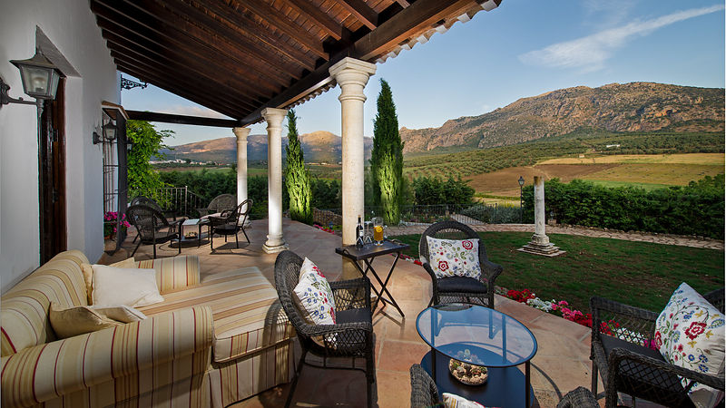 Luxury Villa Hotel Lounge Terrace in Andalucia, Spain