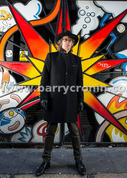 16th January, 2015.Mike Scott, founder and lead singer with The Waterboys photographed in Crow Street, Dublin.Photo:Barry Cro...
