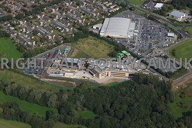 Skelmersdale aerial photograph  of  the West Lancashire College and Asda supermarket