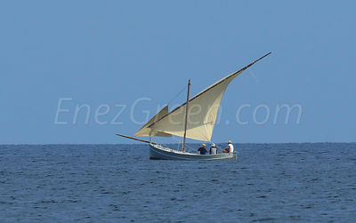 Traditional latin Sardinian boat