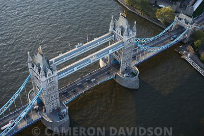 Aerial photograph of Tower Bridge,