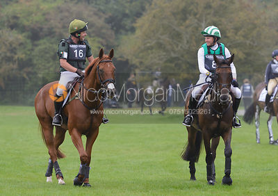 Michael Owen and  THE HIGHLAND PRINCE, Michael Ryan and BALLYLYNCH ADVENTURE - cross country phase,  Land Rover Burghley Hors...