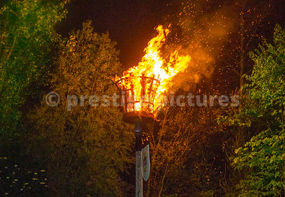 Sparks Fly from the VE Day Beacon in Banbury
