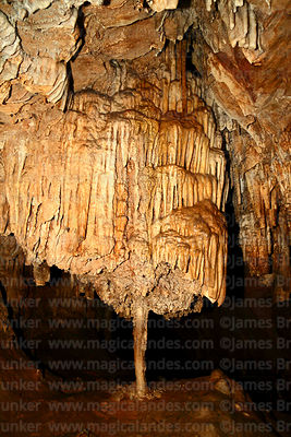 Chandelier stalactite formations in Umajalanta caves, Torotoro National Park, Bolivia