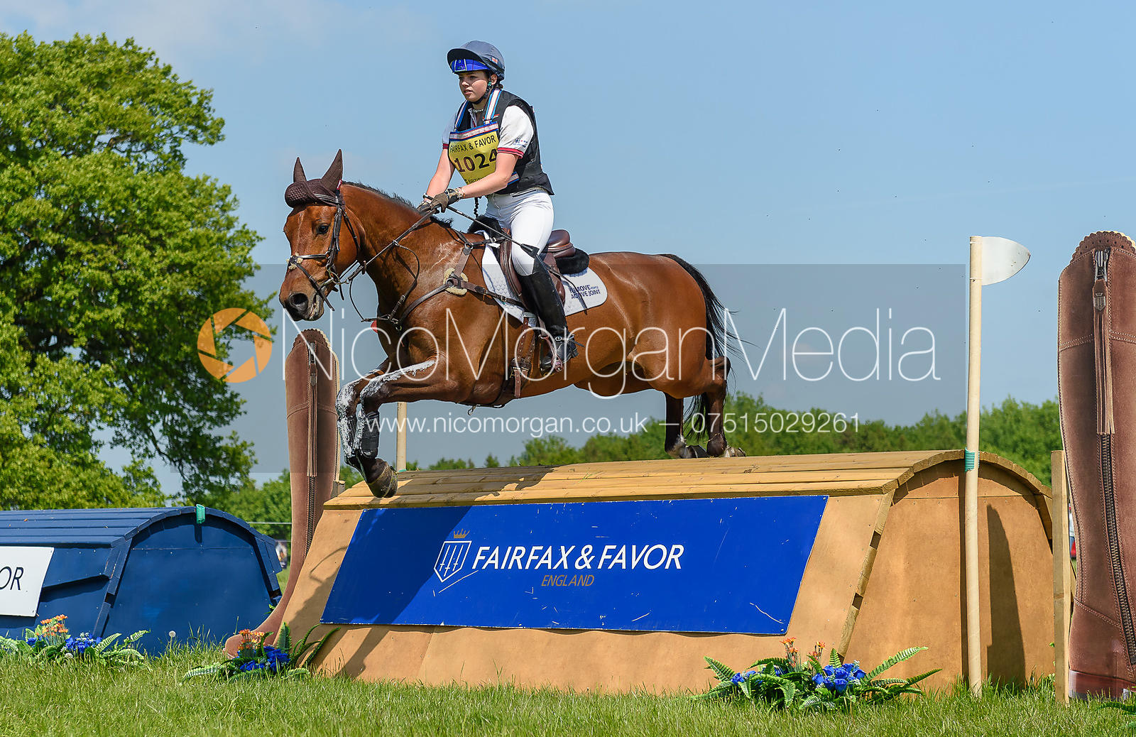 Harriet Wright and GINO VANELLI, Fairfax & Favor Rockingham Horse Trials 2018