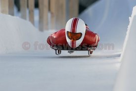 Cresta Rider Jose Sotto Mayor Matoso in Cresta Run of SMTC Saint St. Moritz Tobogganing Club