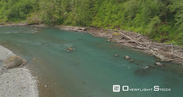 Low Altitude Flyover the hoh River Forks Washington State