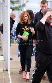 Isla Fisher attends the Edinburgh International Book Festival, Saturday 19th August 2017