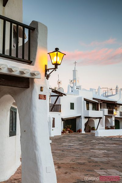 Old town at dusk, Binibequer Vell, Menorca