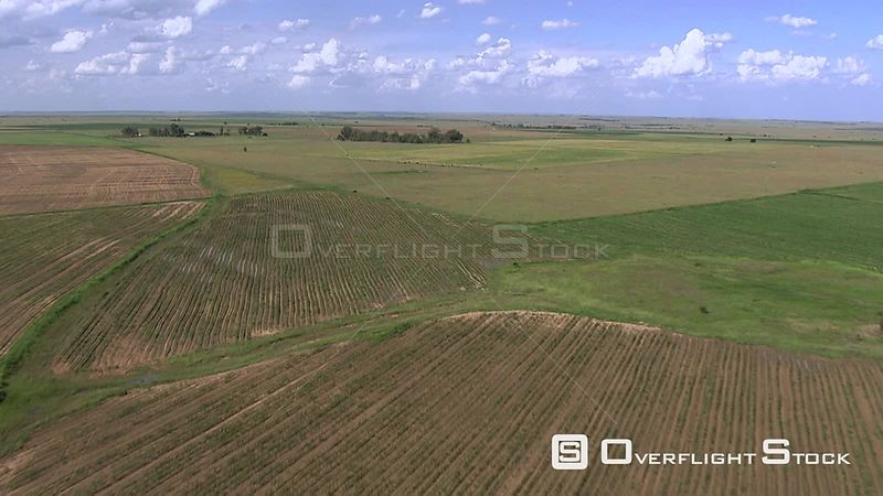 Aerial shot of a cultivated field in Bloemfontein Bloemfontein Free State South Africa